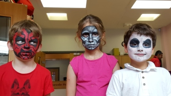 Face painted