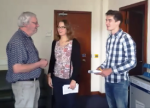 Interns meeting David
