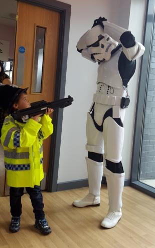 Ruben shooting stormtrooper