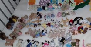 A few of the Sylvanian Families. Rabbits, foxes, cats and so many more