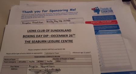 Boxing Day and Sponsor form